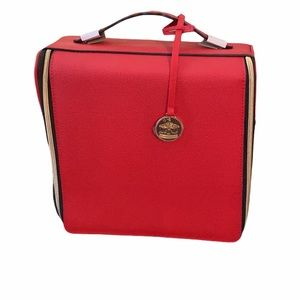 Estée Lauder Red Makeup Train and Travel Case